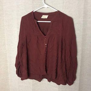 Maeve Maroon blouse size 6
